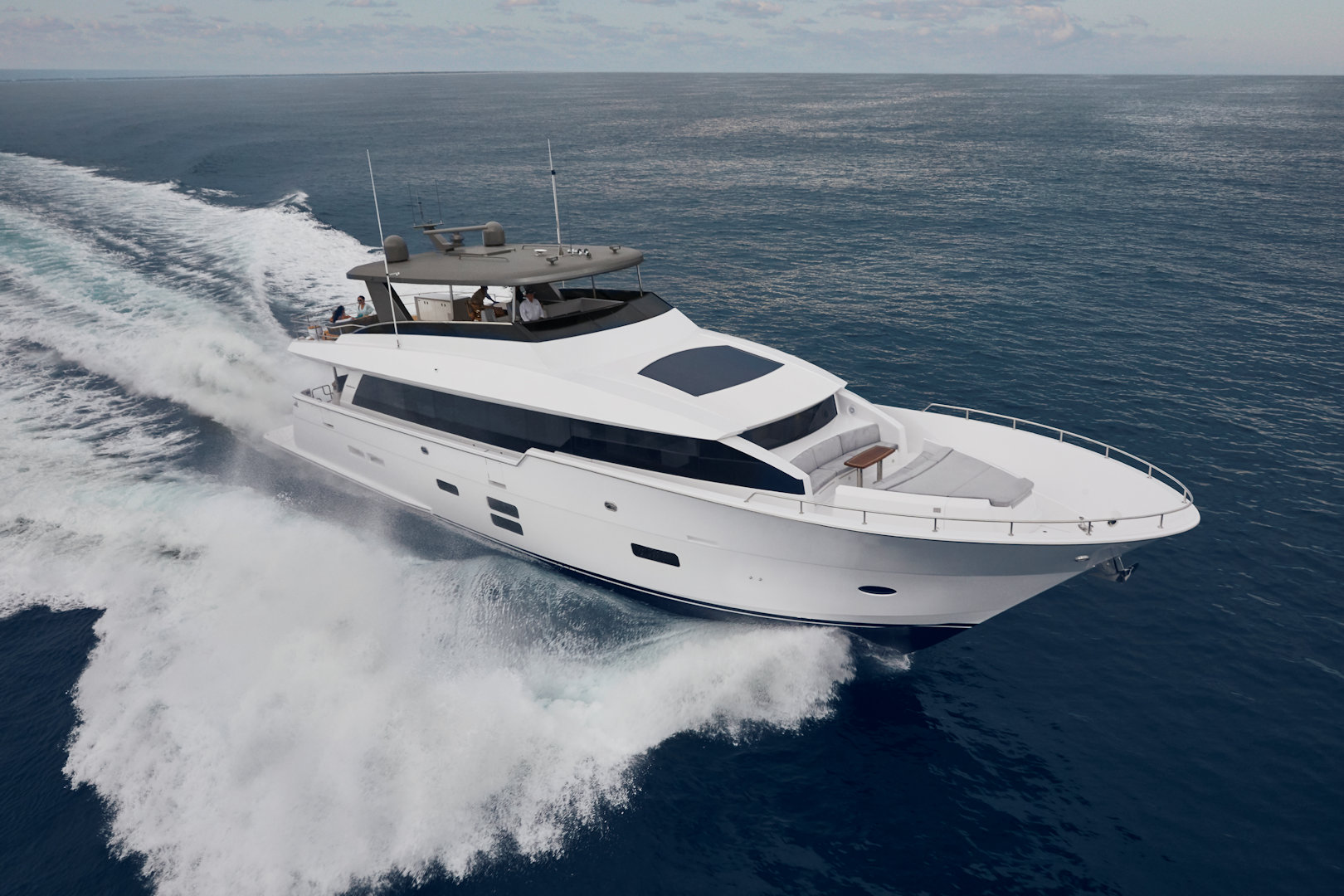 360 VR Virtual Tours of the Hatteras 90 Motor Yacht – VRCLOUD